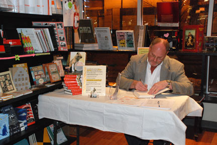 Bruce Coston at a book signing in Chicago in February 2010